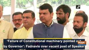 'Failure of Constitutional machinery pointed out by Governor': Fadnavis over vacant post of Speaker
