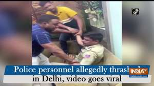 Police personnel allegedly thrashed in Delhi, video goes viral