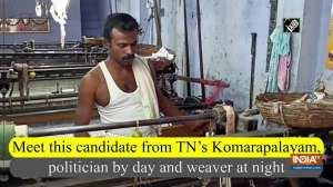 Meet this candidate from TN's Komarapalayam, politician by day and weaver at night