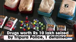 Drugs worth Rs 10 lakh seized by Tripura Police, 1 detained