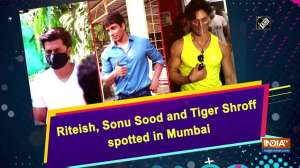 Riteish, Sonu Sood and Tiger Shroff spotted in Mumbai