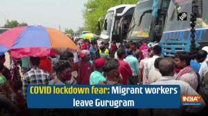 COVID lockdown fear: Migrant workers leave Gurugram