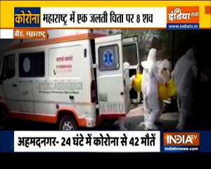 8 Bodies cremated together in Maharashtra's Beed as Covid cases spike