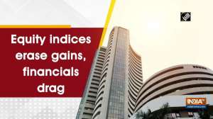 Equity indices erase gains, financials drag