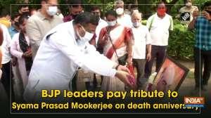 BJP leaders pay tribute to Syama Prasad Mookerjee on death anniversary