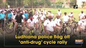 Ludhiana police flag off 'anti-drug' cycle rally
