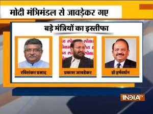 Cabinet Expansion: Union Ministers Ravi Shankar Prasad, Prakash Javadekar resign