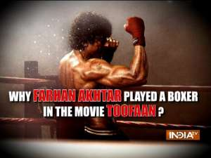 Actor Farhan Akhtar on why he played the role of Boxer in the movie Toofan?