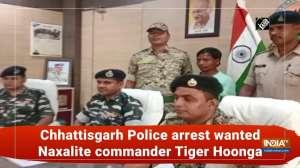 Chhattisgarh Police arrest wanted Naxalite commander Tiger Hoonga