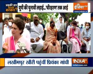 Abki Baar Kiski Sarakar: Priyanka Gandhi meets Anita Yadav in Lakhimpur Kheri