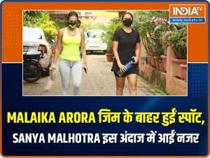 Malaika Arora keeps it sporty for gym, Sanya Malhotra rocks street casuals like a pro
