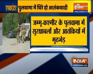 Kashmir: Encounters broke out between security forces and terrorists in Awantipora