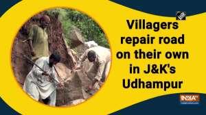 Villagers repair road on their own in J-K's Udhampur