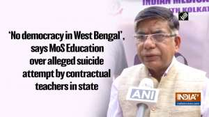 'No democracy in West Bengal', says MoS Education over alleged suicide attempt by contractual teachers in state