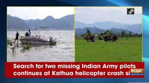 Search for two missing Indian Army pilots continues at Kathua helicopter crash site