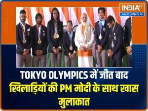 PM Narendra Modi hosts India's Tokyo Olympic heroes at his residence