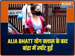 Alia Bhatt snapped post yoga classes in Bandra