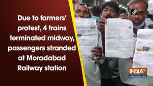Due to farmers' protest, 4 trains terminated midway, passengers stranded at Moradabad Railway station