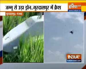 Indian Airforce drone crashes in the field of Punjab's Gurdaspur