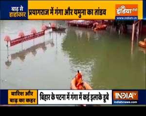 Heavy rainfall causes flood in many districts of Uttar Pradesh and Bihar