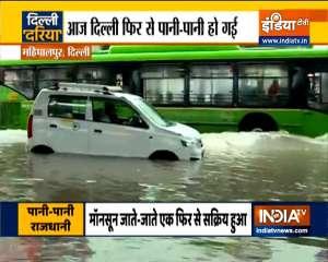 Ground Report: Heavy rains lash Delhi-NCR, disrupt traffic movements in many areas