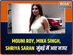 Mouni Roy, Mika Singh, Shriya Saran and others spotted
