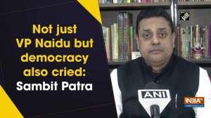 Not just VP Naidu but democracy also cried: Sambit Patra