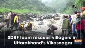 SDRF team rescues villagers in Uttarakhand's Vikasnagar