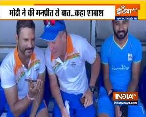 PM Modi talks to Indian men's hockey team captain Manpreet Singh