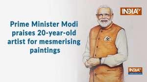 Prime Minister Modi praises 20-year-old artist for mesmerising paintings