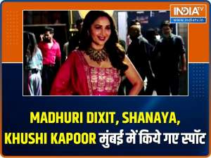 Celebs Spotted! Madhuri Dixit, Shanaya, Khushi Kapoor and others make a splash in the city