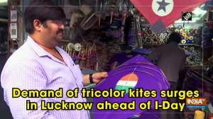 Demand of tricolor kites surges in Lucknow ahead of I-Day
