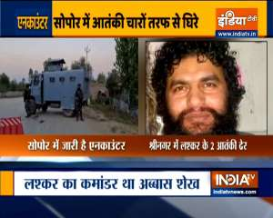 Jammu and Kashmir: Encounter underway between security forces, terrorists in Baramulla's Sopore area