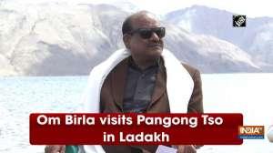 Om Birla visits Pangong Tso in Ladakh