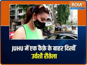 Urvashi Rautela snapped in Juhu