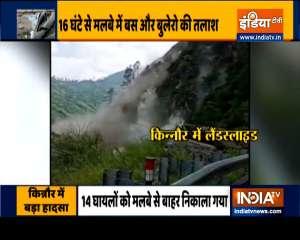 Massive landslide in Himachal Pradesh's Kinnaur, Many bodies recovered