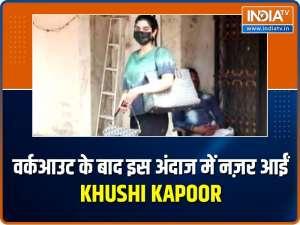 Khushi Kapoor, Anjini Dhawan get clicked at the gym, Boney Kapoor papped at the airport