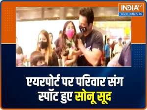 Sonu Sood spotted at the airport with his family