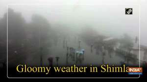 Gloomy weather in Shimla