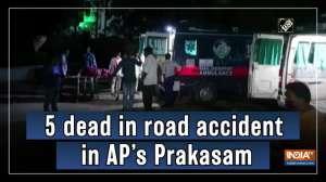 5 dead in road accident in AP's Prakasam