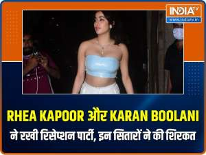 Anil Kapoor, Farah Khan to Janhvi, celebs attend Rhea Kapoor-Karan Boolani's wedding party