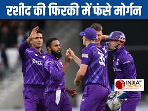 The Hundred | Adil Rashid gets his England captain Eoin Morgan during London Spirit vs Northern Superchargers