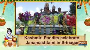 Kashmiri Pandits celebrate Janamashtami in Srinagar