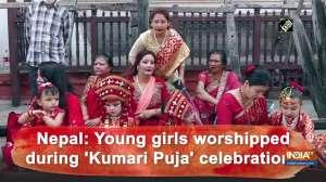 Nepal: Young girls worshipped during 'Kumari Puja' celebrations