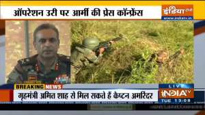 One terrorist neutralized, another caught during an operation:  Major General Virendra Vats