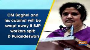 CM Baghel and his cabinet will be swept away if BJP workers spit: D Purandeswari