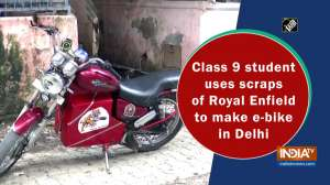 Class 9 student uses scraps of Royal Enfield to make e-bike in Delhi