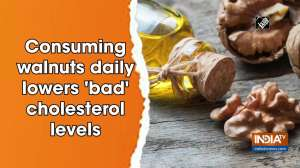 Consuming walnuts daily lowers 'bad' cholesterol levels