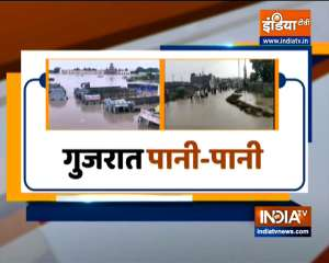 Flood like situation in  Rajkot, Jamnagar; at least 10 people died