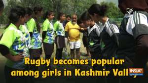 Rugby becomes popular among girls in Kashmir Valley